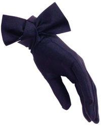 Black.co.uk   Navy Bow Cocktail Gloves   Lyst