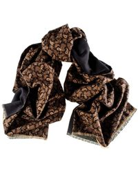 Black.co.uk - Patria Italian Wool And Cotton Paisley Scarf - Lyst