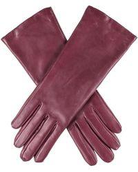 Black.co.uk - Burgundy Cashmere Lined Leather Gloves - Lyst