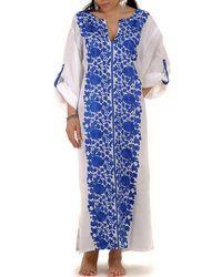 Black.co.uk | Marrakesh Hand Embroidered Linen Kaftan | Lyst