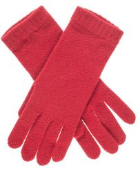 Black.co.uk - Ladies Red Cashmere Gloves - Lyst