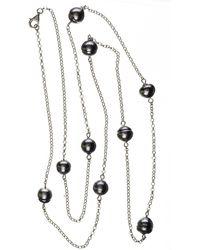 Black.co.uk - Ophelia Tahitian Black Pearl Infinity Necklace - Lyst