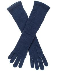 Black.co.uk - Long Navy Italian Cashmere Gloves - Lyst