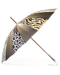 Black.co.uk - Animal Print Italian Luxury Double Canopy Umbrella - Lyst