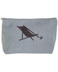 Black.co.uk Vence Large Linen Make Up Bag - Gray