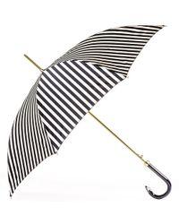 Black.co.uk Black And White Striped Italian Luxury Umbrella