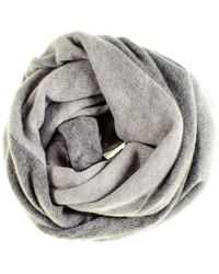 Black.co.uk - Two Tone Grey Double Sided Cashmere Snood - Lyst