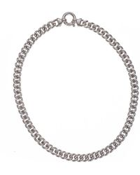 Black.co.uk - Curb Chain Sterling Silver Necklace - Lyst