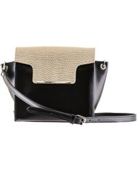 Black.co.uk - Black And Gold Calf Leather Shoulder Bag - Lyst