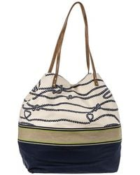 Black.co.uk - Nautical Navy And Cream Beach Bag - Lyst