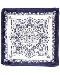 Black.co.uk - Sovana Silk And Linen Pocket Square - Lyst