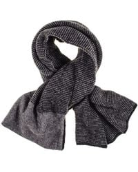 Black.co.uk - Grey Double Faced Cashmere Neck Warmer - Lyst