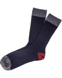 Black.co.uk - Navy Grey And Bordeaux Cashmere Socks - Lyst