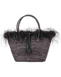 Black.co.uk - Frou Frou Black Straw Tote Bag - Lyst