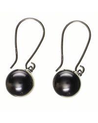 Black.co.uk - Fortuna Tahitian Black Pearl Earrings - Lyst