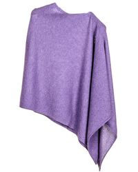 Black.co.uk - African Violet Knitted Cashmere Poncho - Lyst