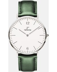 TED BERSLAY | Drepper Silver Leather Olive | Lyst