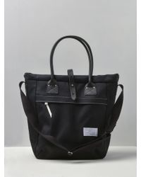b512c7d05a83 Lyst - Chanel Leather Tote Bag 2 Way Chain Damage Processing in Black