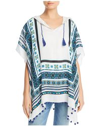 Fraas - Geometric Hooded Poncho - Lyst