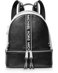 Michael Kors - Michael Rhea Zip Logo Pebble Leather Backpack - Lyst