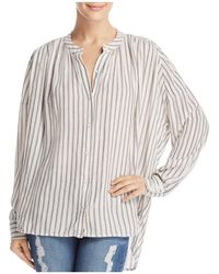 Splendid - Painters Striped Blouse - Lyst