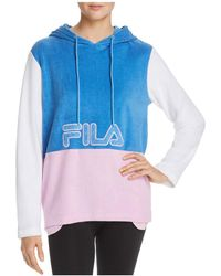 Fila - Lux Color-block Terry Hooded Sweatshirt - Lyst