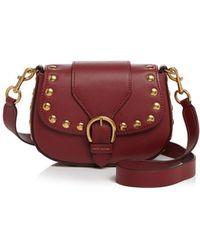 Marc Jacobs - Navigator Studded Small Leather Saddle Bag - Lyst