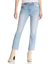 Pistola - Lennon Distressed Cropped Bootcut Jeans In Illusionist - Lyst
