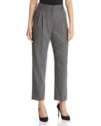 Emporio Armani - Cropped Metallic Stripe Pants - Lyst