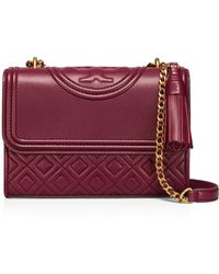47ee151fec43 Tory Burch - Fleming Convertible Small Leather Shoulder Bag - Lyst