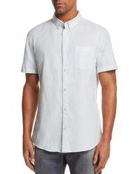 Sovereign Code - Striped Short Sleeve Button-down Shirt - Lyst