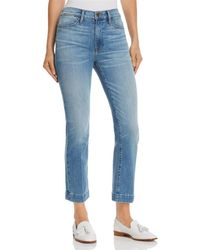 FRAME - Le High Straight Blind Stitch Jeans In Withers - Lyst