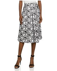 BCBGMAXAZRIA - Floral Embroidered A-line Skirt - Lyst
