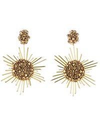 Oscar de la Renta - Fireball Clip-on Earrings - Lyst