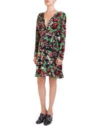 The Kooples - Rose Burnout Velvet Wrap Dress - Lyst