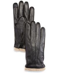 Bloomingdale's - Deerskin Tech Tip Gloves - Lyst