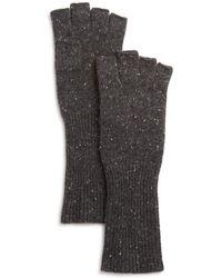 Aqua - Cashmere Donegal Cashmere Fingerless Gloves - Lyst