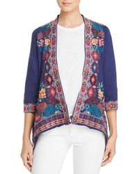 Johnny Was - Quinn Embroidered Cardigan - Lyst