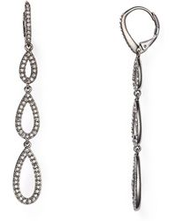 Nadri - Pavé Teardrop Earrings - Lyst