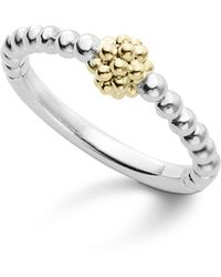 Lagos - Caviar Icon 18k Gold And Sterling Silver Bead Cluster Stacking Ring - Lyst