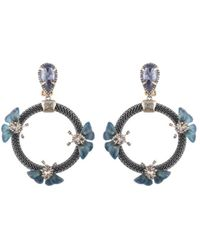 Alexis Bittar - Floral Chain Loop Clip-on Drop Earrings - Lyst