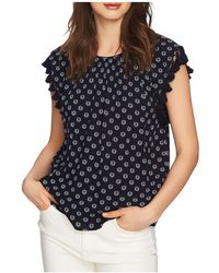 1.STATE - Sleeveless Printed Tassel-trim Top - Lyst