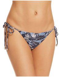 Sam Edelman - Floral Tie Side Bikini Bottom - Lyst