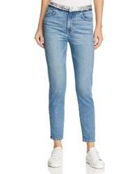 IRO - Jones Sequin-waist Skinny Jeans In Stone Blue - Lyst