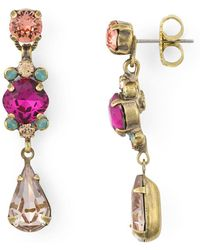 Sorrelli - Saffron Linea Drop Earrings - Lyst