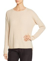Eileen Fisher - Ribbed Cashmere Sweater - Lyst