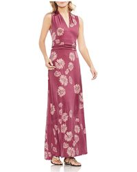 Vince Camuto - Sleeveless Floral-print Maxi Dress - Lyst