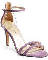 b6746104ccf Lyst - Karen Millen Suede Color Block High Heel Sandals in Orange