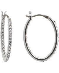 Ralph Lauren - Lauren Pavé Link Hoop Earrings - Lyst