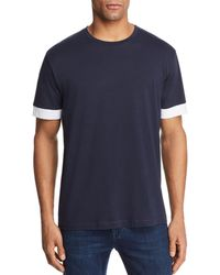 Theory - Gaskell Color-block Sleeve Tee - Lyst